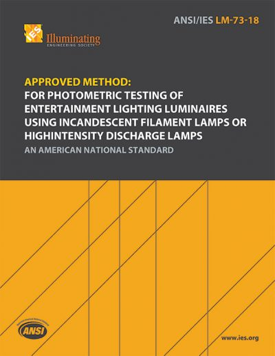 Approved Method: Photometric Testing of Entertainment Lighting Luminaires Using Incandescent Filament Lamps or High Intensity Discharge Lamps